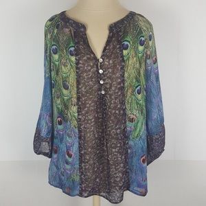 Fig & Flower 2X Peasant Peacock Top. I never wore